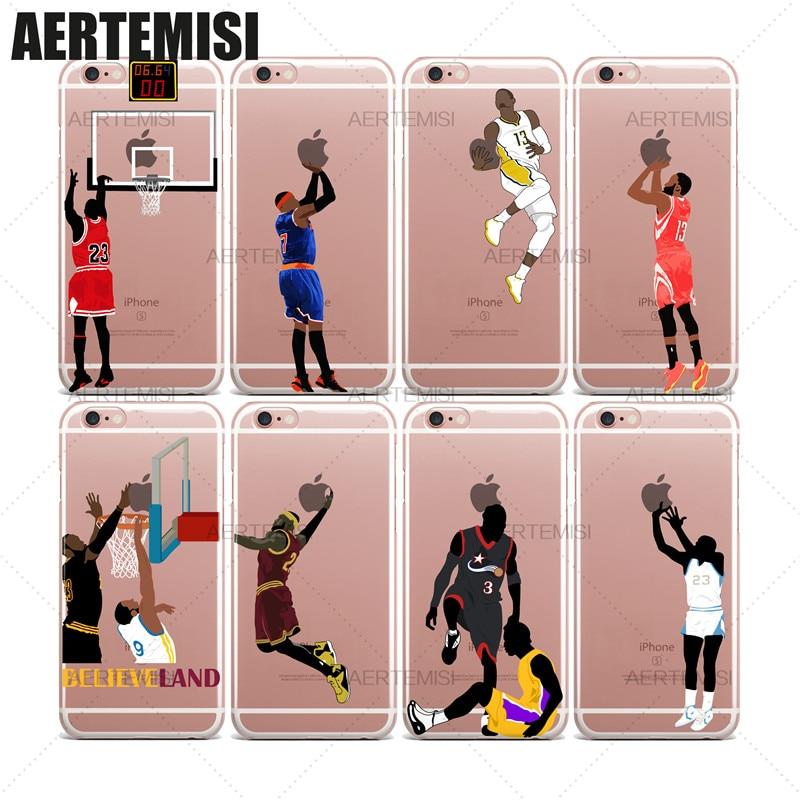 Aertemisi LeBron James Andre Iguodala Allen Iverson Tyronn Luee claro funda de TPU para iPhone 6 6s 7 7 8 Plus X XS X Max XR
