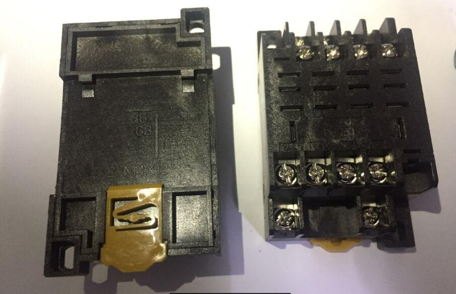 Soquete do relé PTF14A DIP14 FIF 4 para C com o LY4N-J 10A 250VAC relé, novo e original