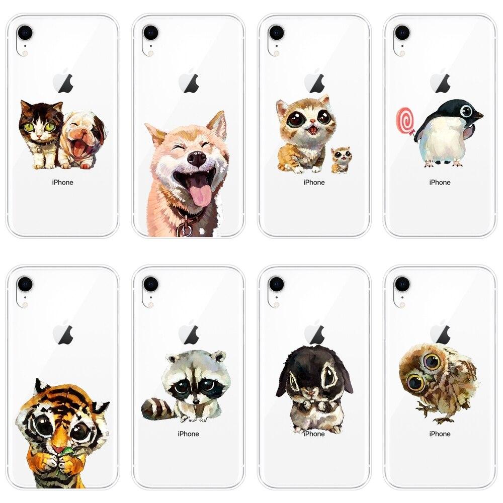 Carcasa para iPhone 6 S 6 6 S 7 8 X XR XS Max perro Shiba inu Kawaii gato de silicona suave volver funda para iPhone 8 7 6 S 6 Además de caso de teléfono