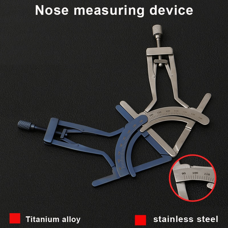 Nose shaping Stainless steel instrument tool Nose measuring gauge Small house nose tip height measuring device