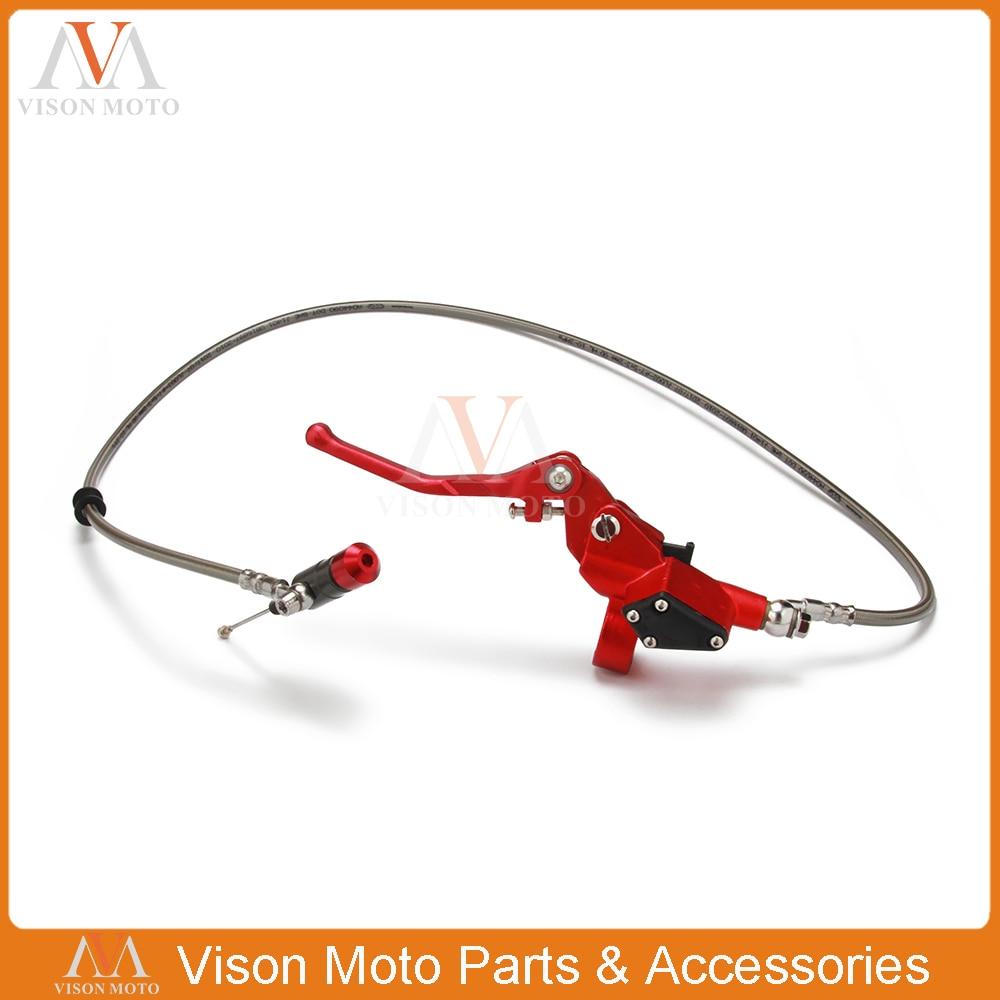 1200 мм красный гидравлический рычаг сцепления Главный цилиндр для 125cc-250cc вертикальный двигатель внедорожный мотоцикл Байк
