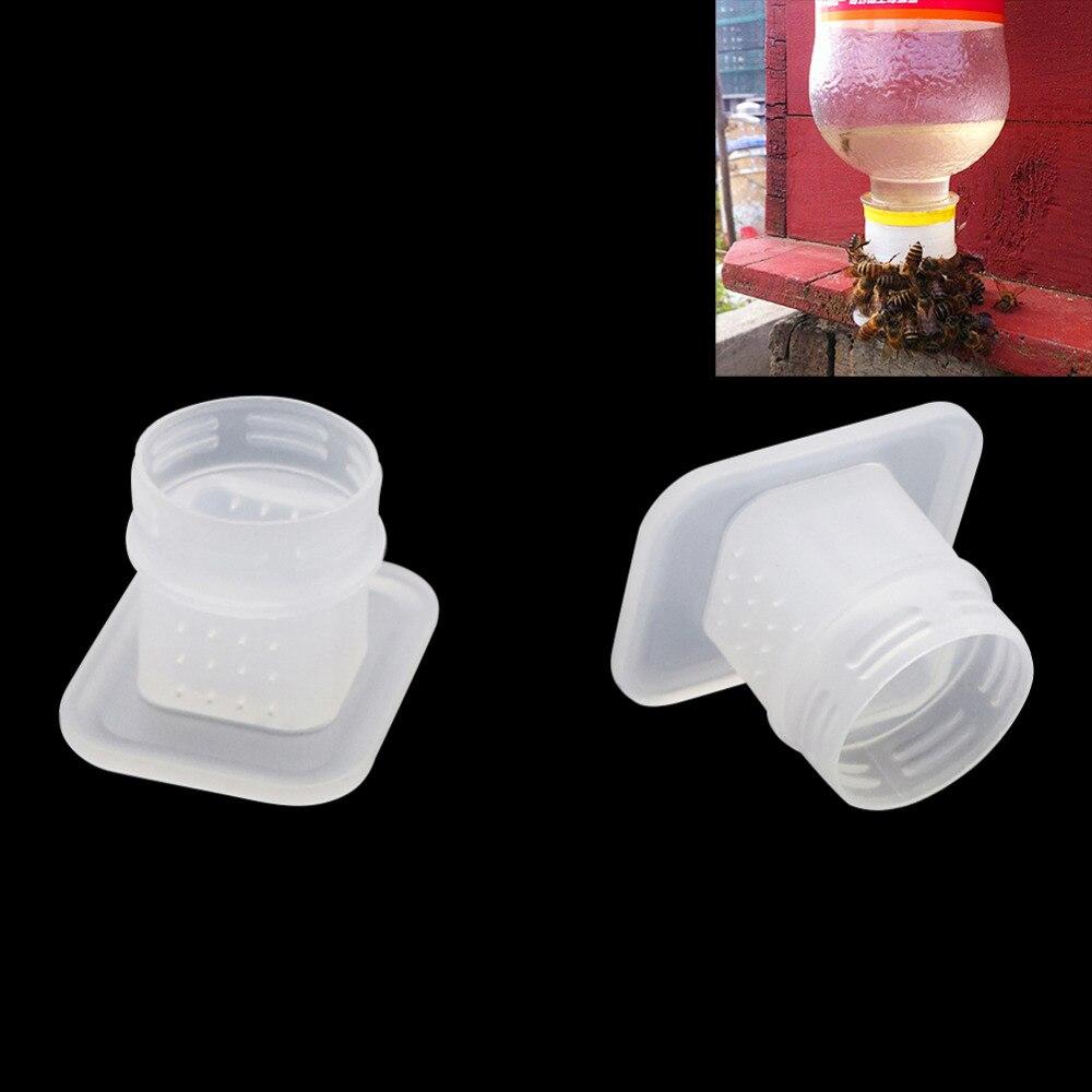 Rainha sistema de criação equipamentos de água potável alimentação abelha fonte potável apicultura ferramentas fácil para cola garrafa 30 pçs