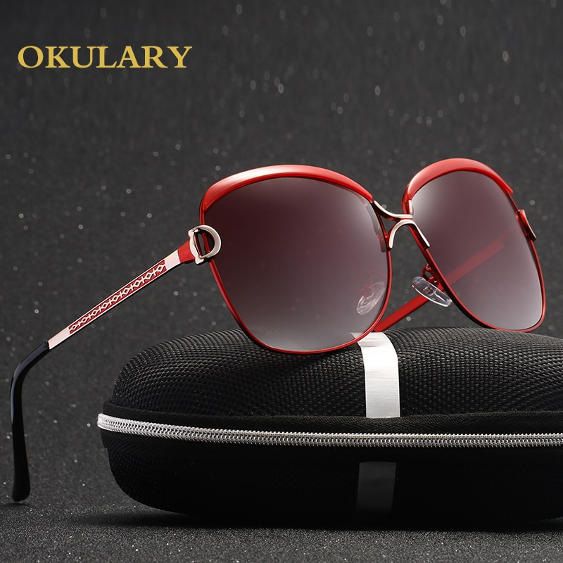 2021 Fashion Glasses For Women Polarized Sunglasses 5 Colors Metal Frame UV400 Lady Glasses Come With Box
