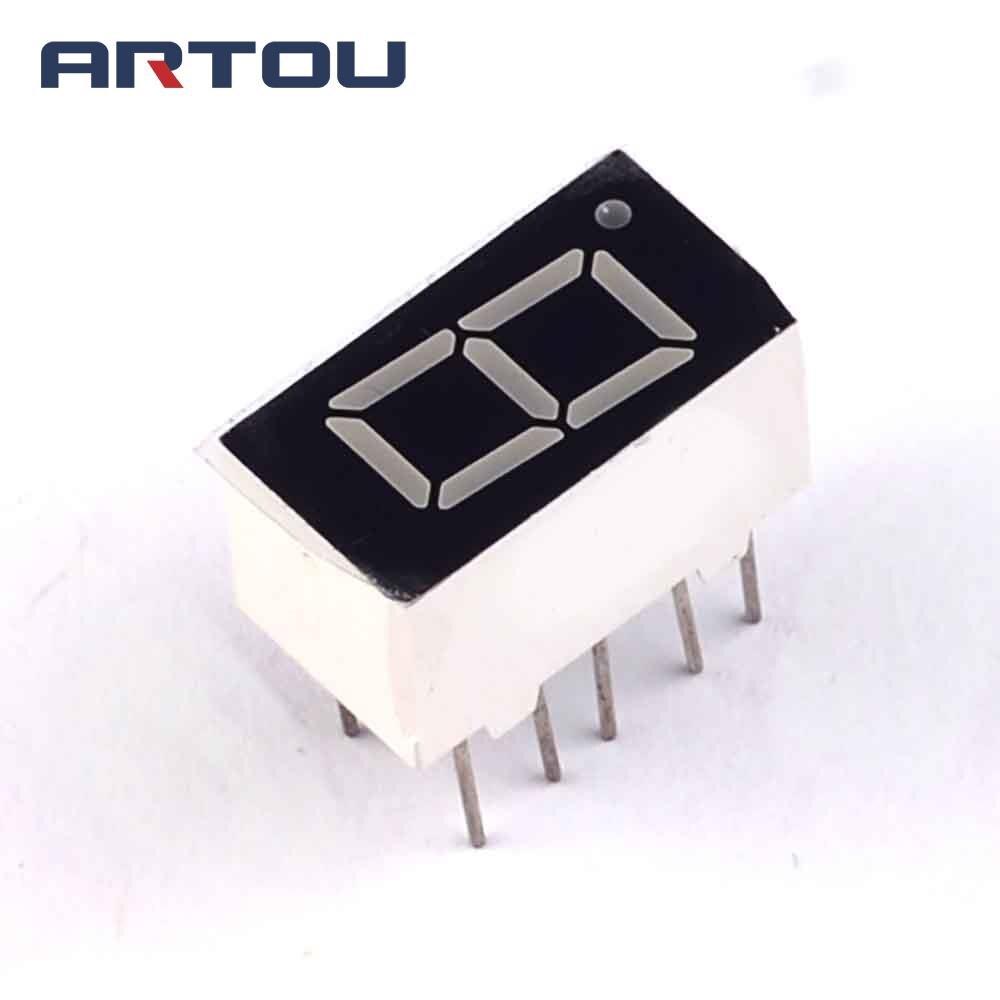 """Anodo comum 1bit, tubo digital de 7 segmentos 0.36 """"display led vermelho com 10 peças"""