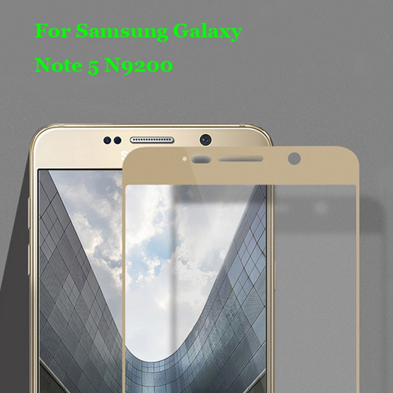Note 5 N9200 Full Coverage Tempered Glass 9H 2.5D Premium Screen Protector Film For Samsung Galaxy N