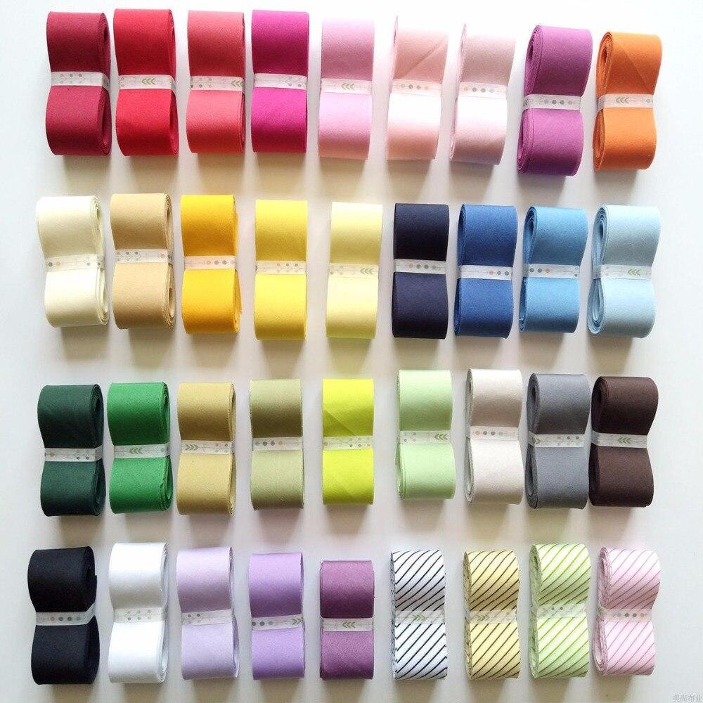 3cm20 metros T/C algodón diagonal vinculante cintas Patchwork Trim Covered Dress-making Craft tapicería costura cinta textil