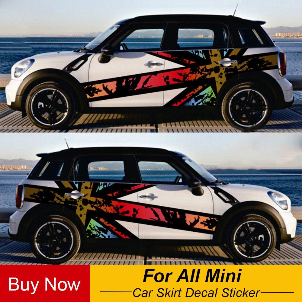 Двусторонняя наклейка на дверь автомобиля Jack для MINI Cooper F54 F55 F56 F60 R55 R56 R60 Countryman аксессуары для стайлинга автомобилей