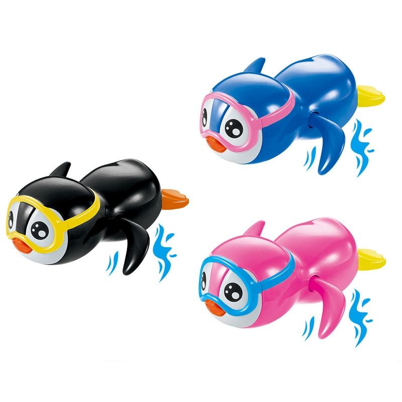 Детские игрушки для купания, заводные игрушки для детей, милые пингвины, Мультяшные животные, Классические игрушки для ванной, игрушки для д...