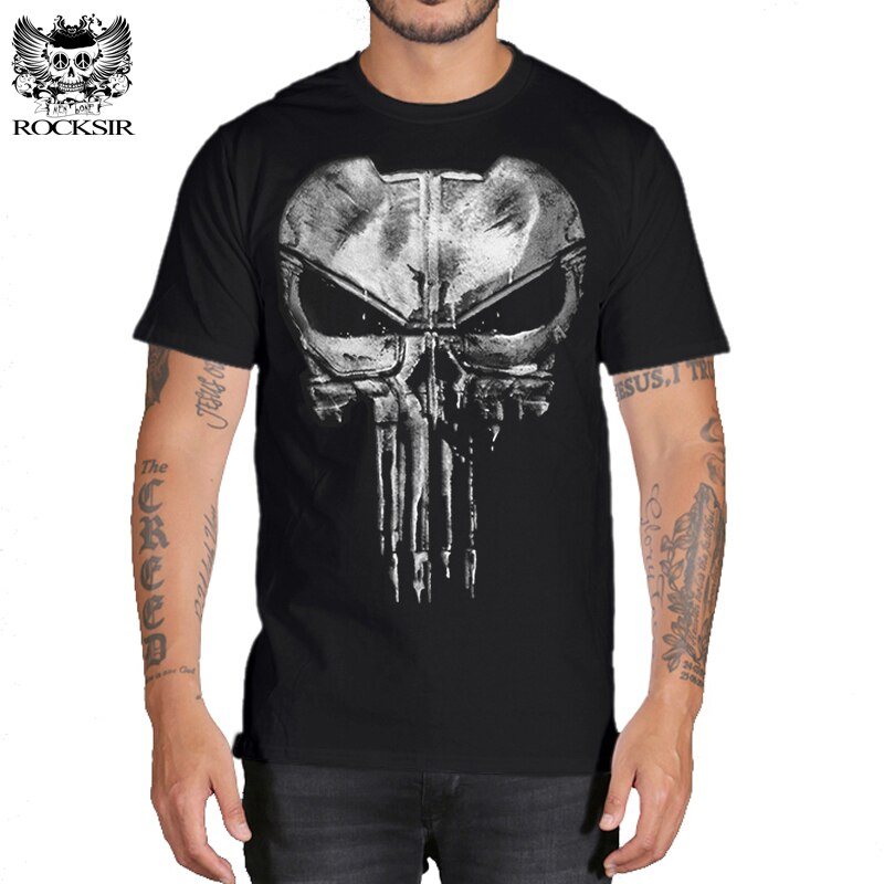 Camiseta de Punisher para hombre, camisetas divertidas de Hip-Hop, camisetas de moda...