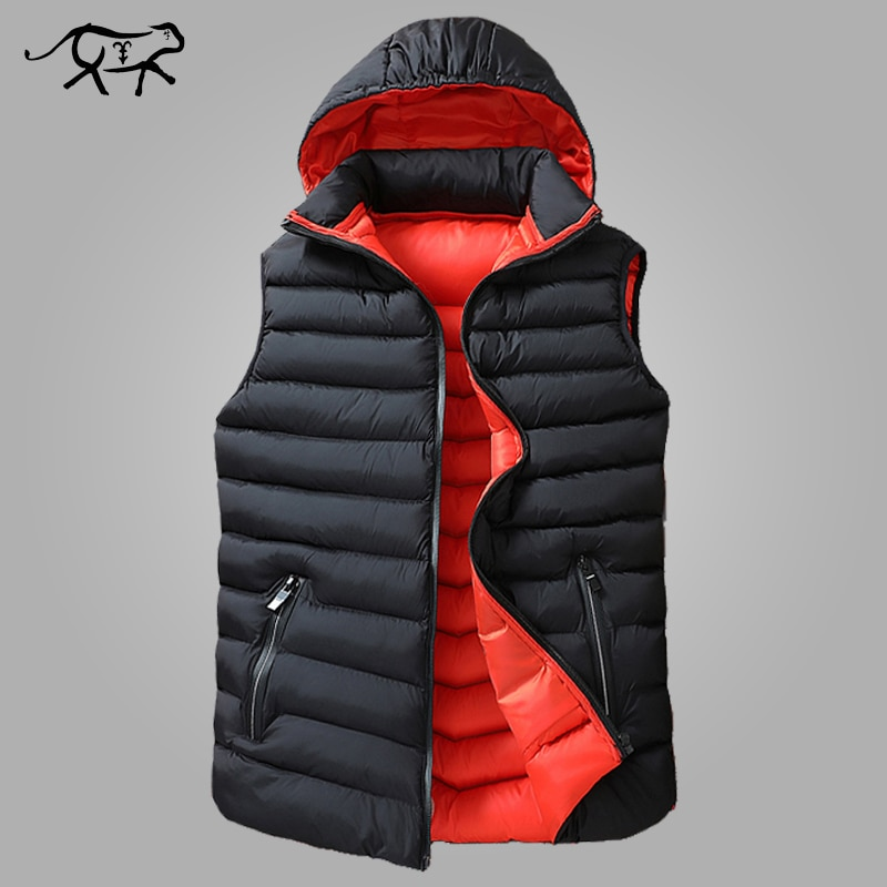 Winter Sleeveless Jacket Men Down Vest Men Warm Thick Hooded Coats Male Cotton-Padded Men's Work Waistcoat Gilet Homme Vest 8XL
