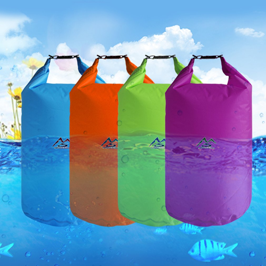10l 20l translucent swimming waterproof bag storage dry bag swimming bag for canoe kayak rafting outdoor camping river trekking Outdoo5L/10L/ 20L/40L Outdoor swimming Waterproof Bag Camping Rafting Storage Dry Bag with Adjustable Strap Hook