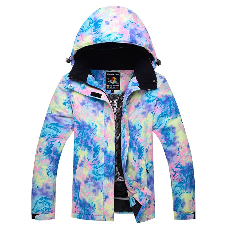Chaquetas de esquí baratas brillantes para mujer, ropa deportiva para exteriores, equipo de snowboard, impermeable, a prueba de viento, transpirable, abrigo de nieve para niñas