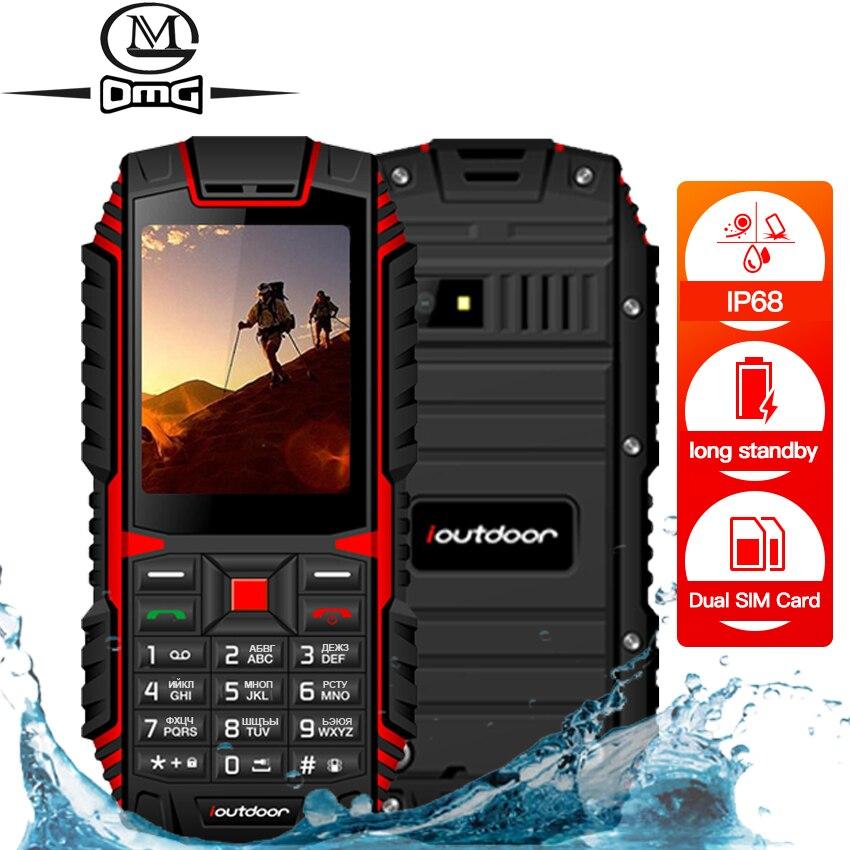 Ioutdoor IP68 водонепроницаемый ударопрочный мобильный телефон русская клавиатура беспроводной FM разблокированный фонарик две sim-карты прочный ...
