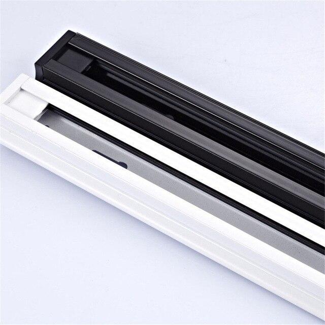 Fixation déclairage de la voie en aluminium, rail de rail en aluminium de 1 m, 1 mètre, pièces lumineuses de voie, 2 fil, 1 phase +