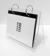 Lucite-support acrylique transparent de bureau   Supports de support de calendrier, supports de calendrier de bureau