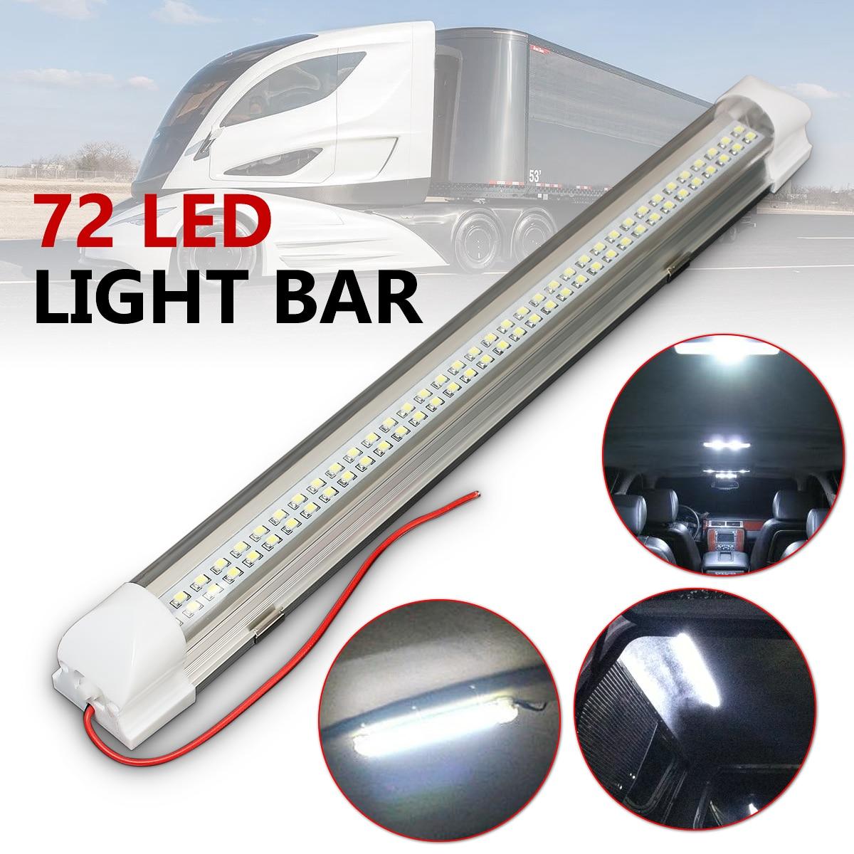 12V 2,5 W 72 светодиодный Домашний Светильник для автофургона, автобуса, каравана, бар, полоса, лампа с переключателем вкл/выкл, универсальный автомобильный Стайлинг, автомобильные аксессуары