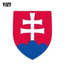 YJZT 10.5CM*13.2CM Creative Reflactive Shield Slovakia Flag Car Sticker Motorcycle Decal 6-0335