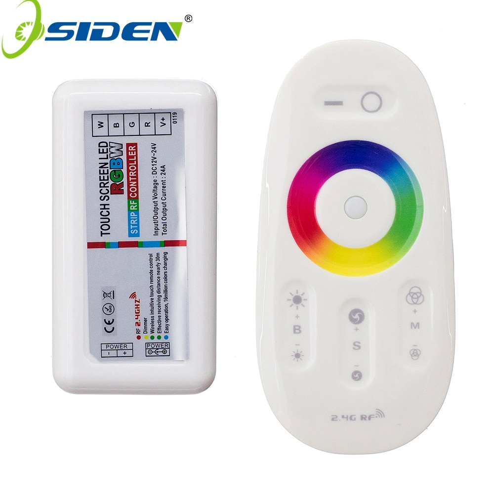 OSIDEN 2.4G LED RGB RGBW Controller DC12-24V Touch Screen RF Remote Control for RGB LED Strip 2 4g touch screen led rgb rgbw controller wireless dc12 24v touch rf control for rgb rgbw led strip 18a remote controller