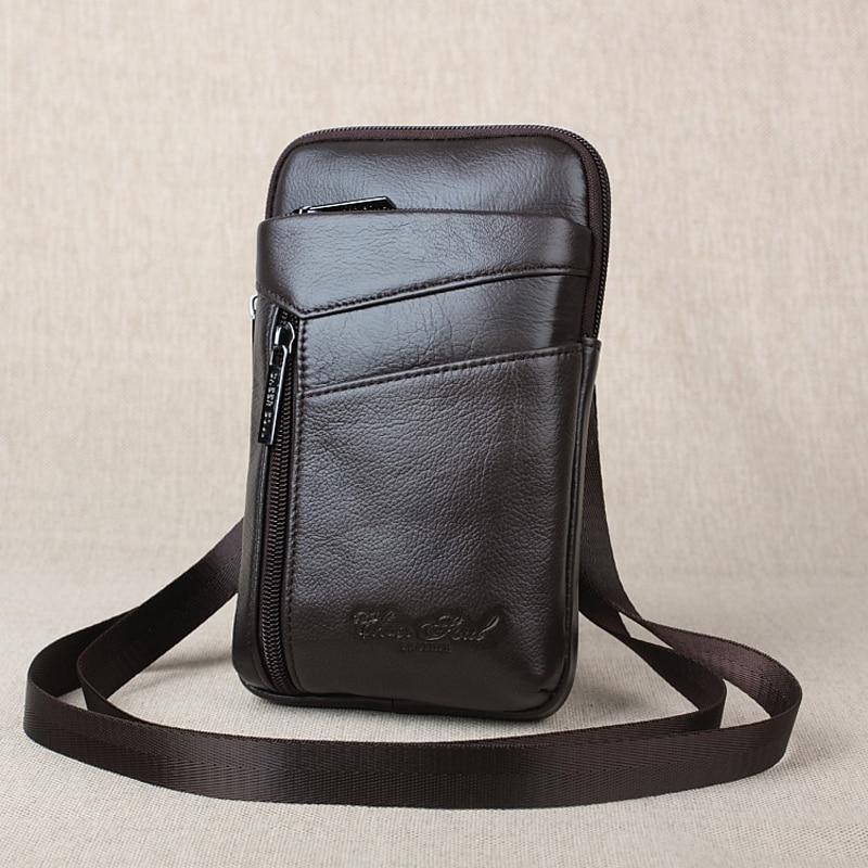 Поясная Сумка из натуральной кожи, маленькая поясная сумка-кошелек для мужчин, дорожная сумка для телефона, сумка-мессенджер через плечо для мужчин