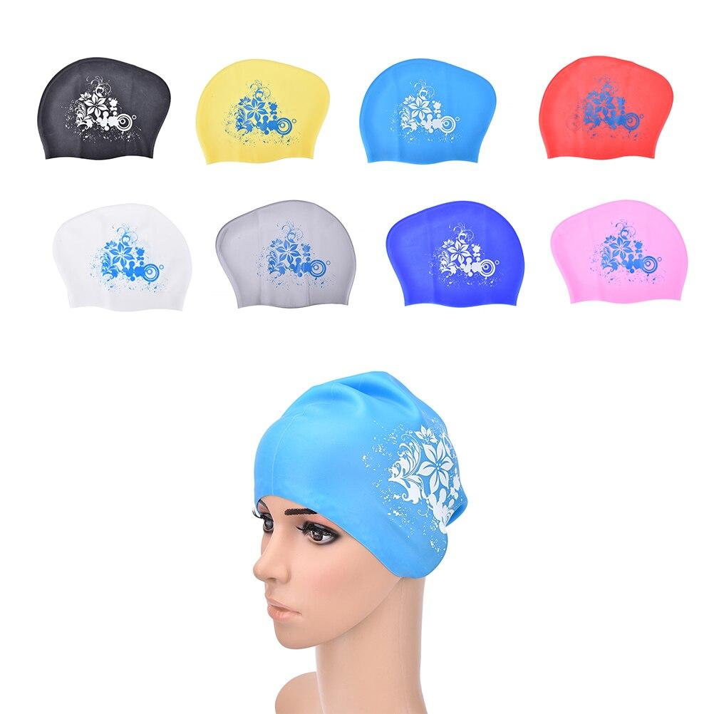 100% látex silicone touca de natação para cabelo longo feminino à prova dwaterproof água natação bonés senhoras mergulho capa chapéu para crianças garras casquette