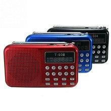 Heißer verkauf Digital fm radio Micro SD/TF USB Disk mp3 radio LCD Display Internet Radio mit lautsprecher RADT508