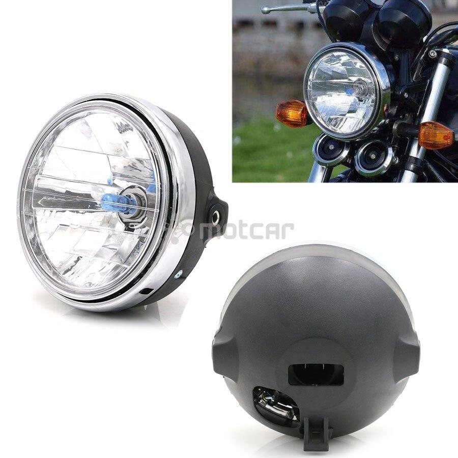 1 Piezas de motocicleta universales faro frente luz ámbar Cafe Racer luz para Suzuki Honda CB400 CB500 CB1300 Hornet 250 de 600 900