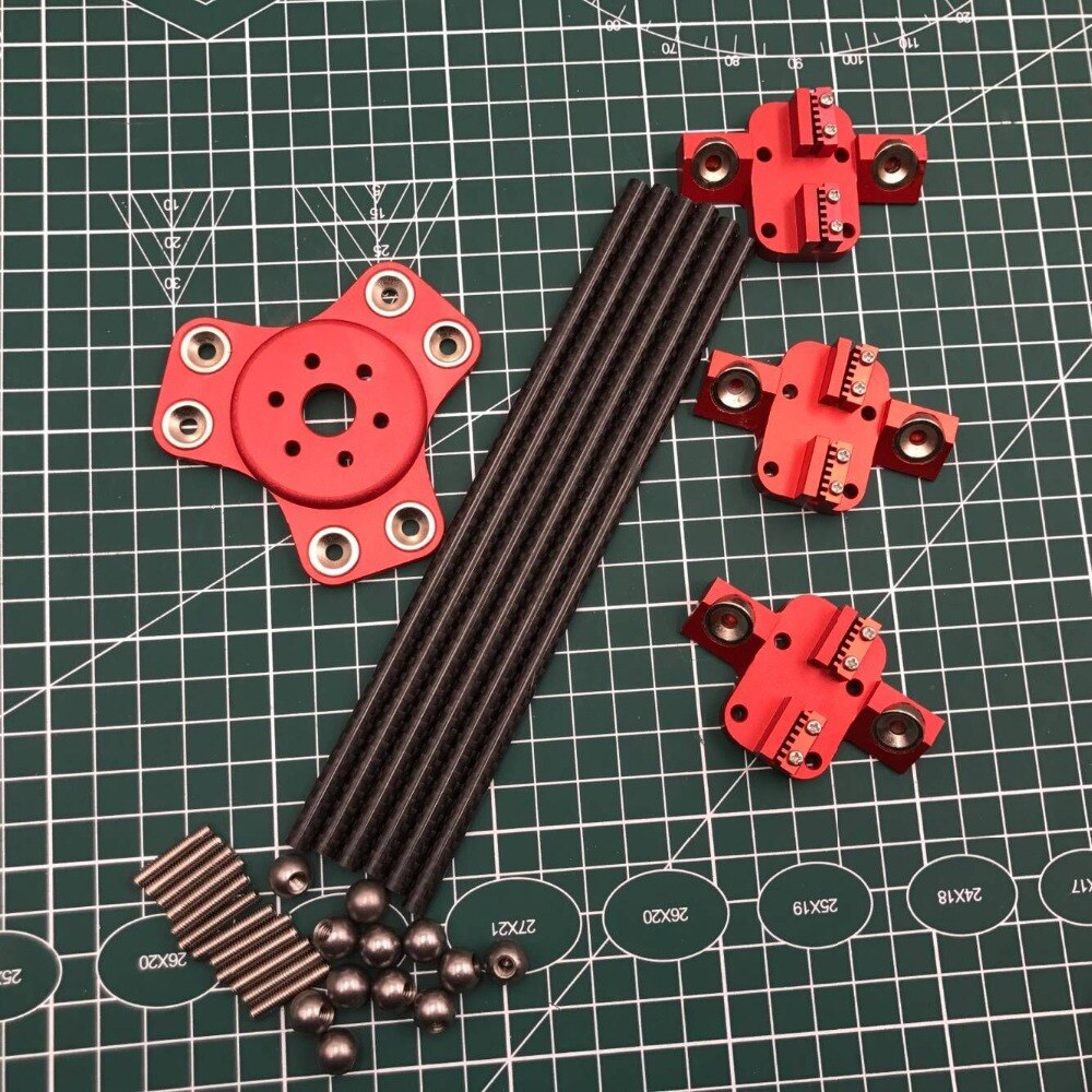 Kossel XL מגנטי effector + תובלה + פחמן צינור אלכסוני לדחוף מוטות ערכת DIY דלתא kossel 3d מדפסת