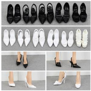 doll shoes pretty shoes fashion black white shoes high heel shoes for your collection barbie dolls BBI988