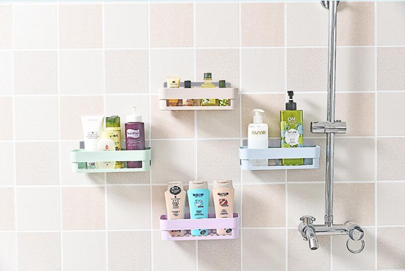 Estante de almacenamiento repisa montado en la pared para baño estante de almacenamiento estante de ducha esquina cesta de almacenamiento en estantes decoración de pared