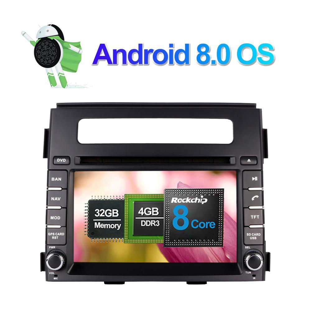 6,2 pulgadas Android 7,1/8,0 Octa Core 4GB RAM Radio de coche GPS estéreo Bluetooth para Kia Soul 2012-2013 navegación CD DVD Multimedia