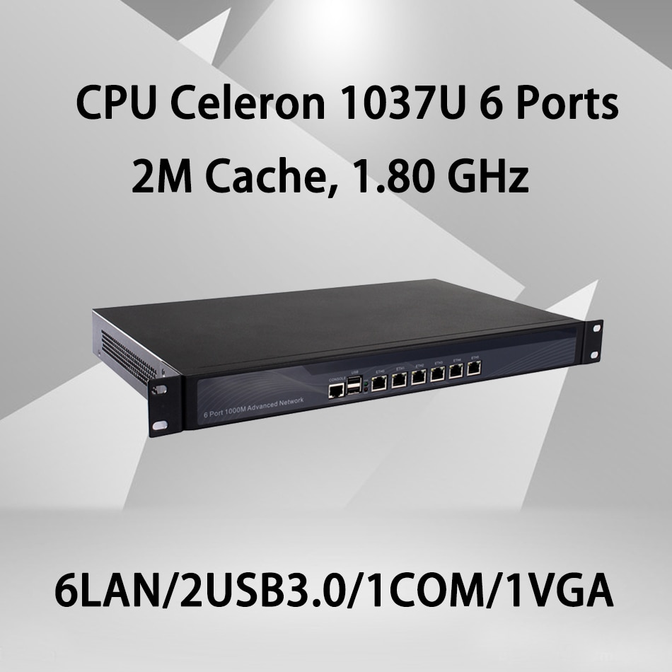Брандмауэр Mikrotik Pfsense vpn сетевая безопасность Appliance маршрутизатор ПК Intel Celeron 1037U