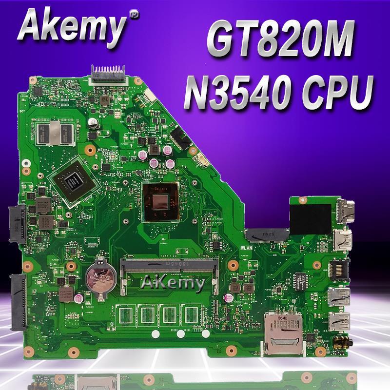 Akemy N3540 CPU X550MJ GT820M placa base X550MD REV 2,0 para For Asus X550M X552M Y582M X550MD X550MJ placa base 100% prueba Ok