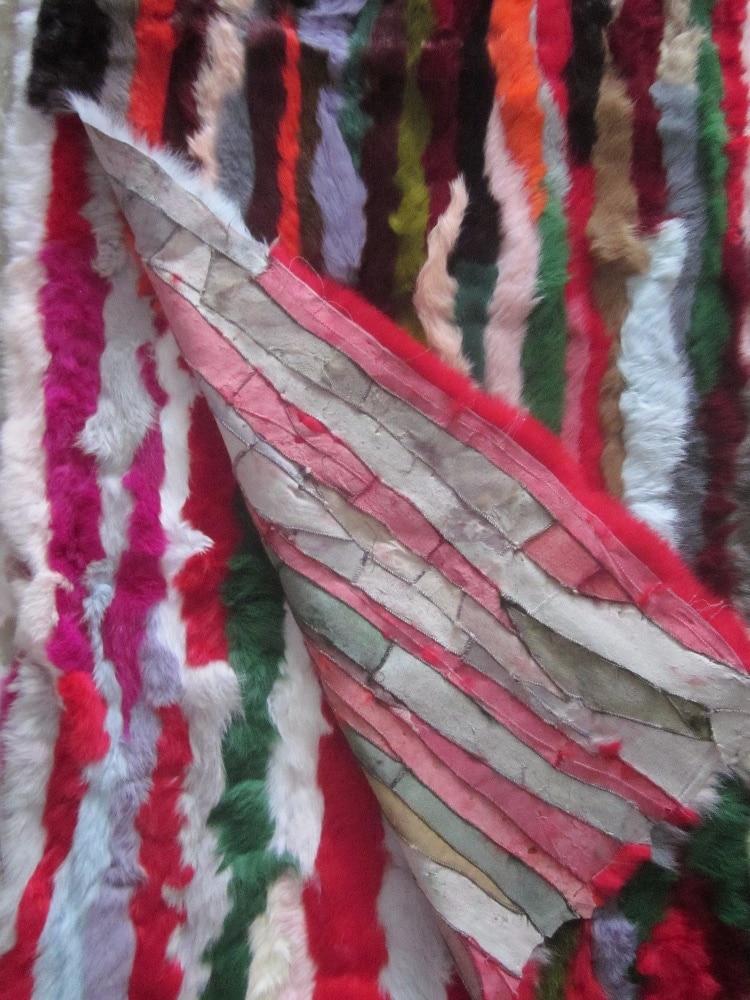 New arrival genuine rabbit fur plates multi bright color children parka lining DIY fur raw material