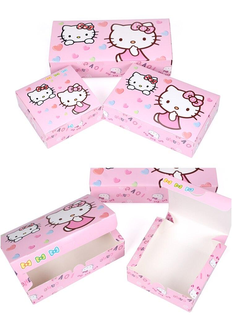 3 размера Хелло Китти луна торт бумажная коробка партия пользу Подарочная коробка 100 шт./лот Бесплатная доставка