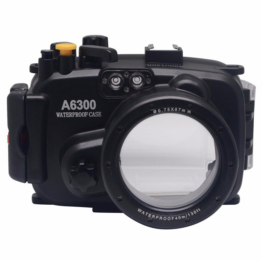 Mcoplus 40 м/130 футов подводный водонепроницаемый корпус сумка для камеры Sony A6300 с точным звуковым сигналом