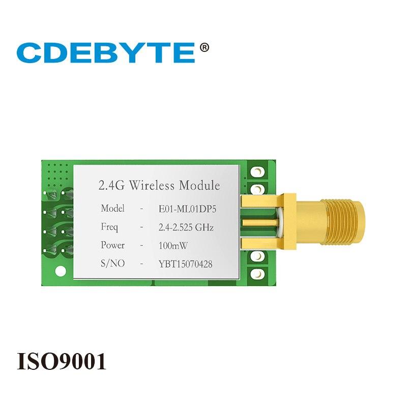 Беспроводной приемопередатчик nRF24L01P, антенна SMA с большим радиусом действия, 2,4 ГГц, 100 мВт, nRF24L01P, радиочастотный модуль, SPI nRF24L01P