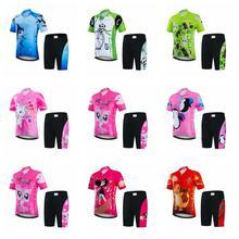 Conjunto de jersey de Ciclismo para niños, 2019, pantalones cortos de Ciclismo, pantalones cortos para niños, bicicleta de montaña, bicicleta, Maillot, Ropa de Ciclismo, camisetas, trajes inferiores