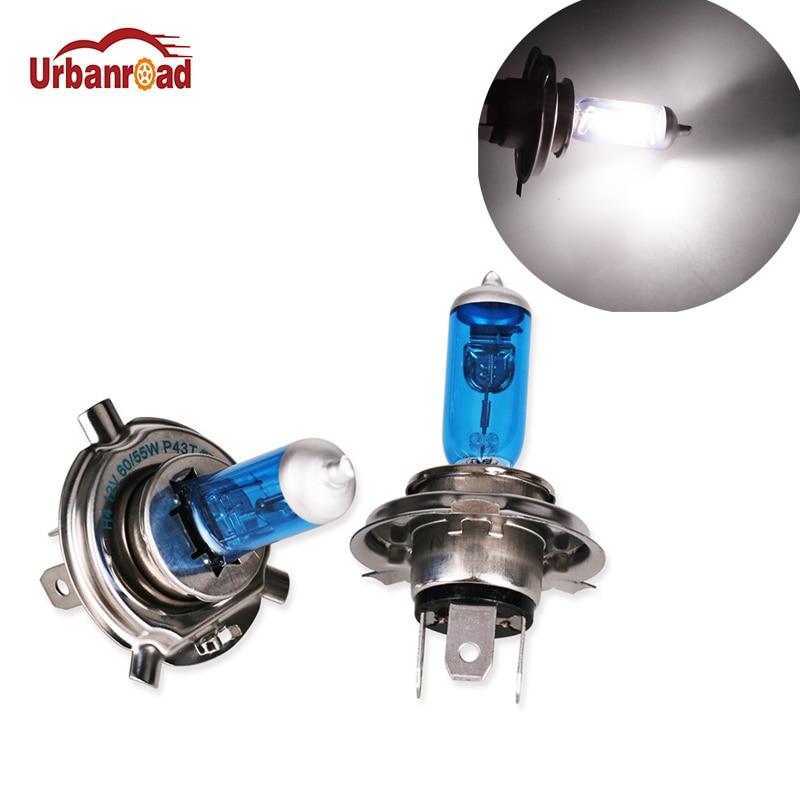 2 teile/para H4 55 W 60 W Halogen 6000 K Hohe Abblendlicht Licht Scheinwerfer Birne Auto P43T H4 6000 K DC12V Xenon Weiß Auto Nebel Lampe