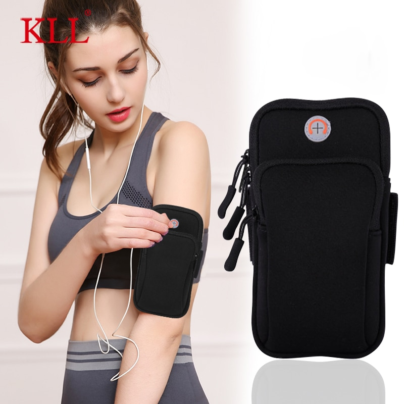 6 inch sports jogging gym armband running bag arm wrist band hand mobile phone case holder bag outdoor waterproof nylon hand bag Universal 6'' Waterproof Sport Armband Bag Running Jogging Gym Arm Band Mobile Phone Bag Case Cover Holder for iPhone Samsung