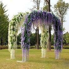 Искусственные Висячие Цветы из виноградной лозы для дома, девичник, вечеринка, страна, свадьба, центральный букет, церковь, свадебное украше...