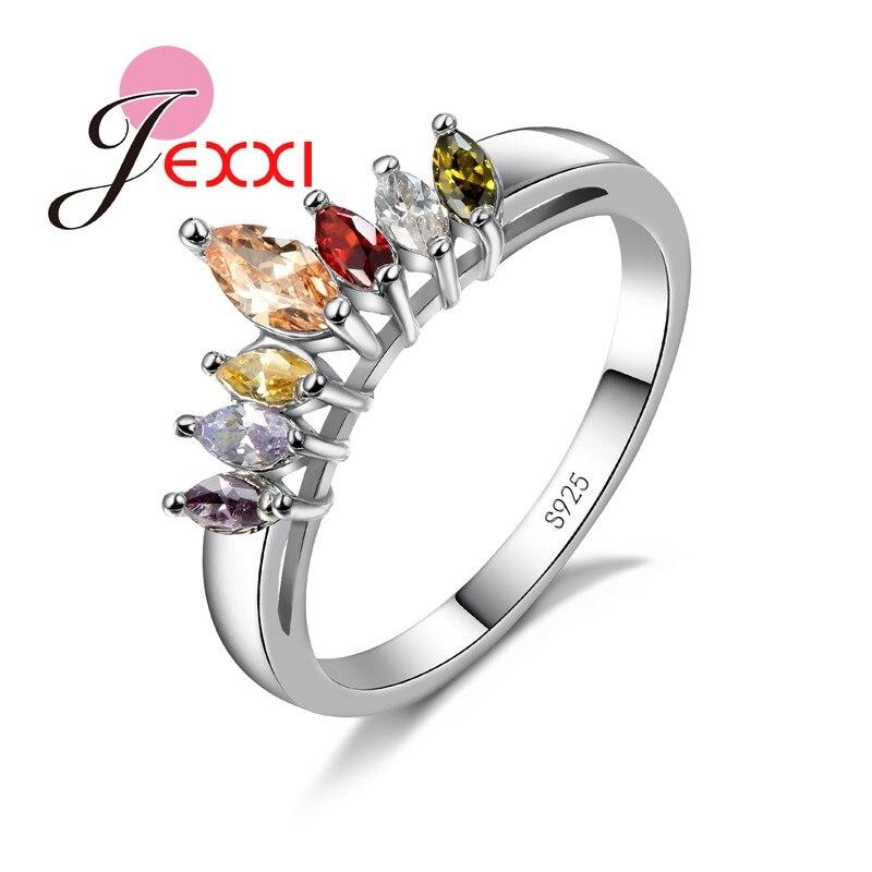 Duas cores moda 925 prata esterlina casamento anéis de promessa brilhante cz pedra atacado festa jóias acessórios