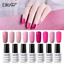 Elite99 belle couleur rose Gel vernis 7ml imbiber LED UV Gel laque besoin lampe longue durée vernis à ongles vernis Art des ongles manucure