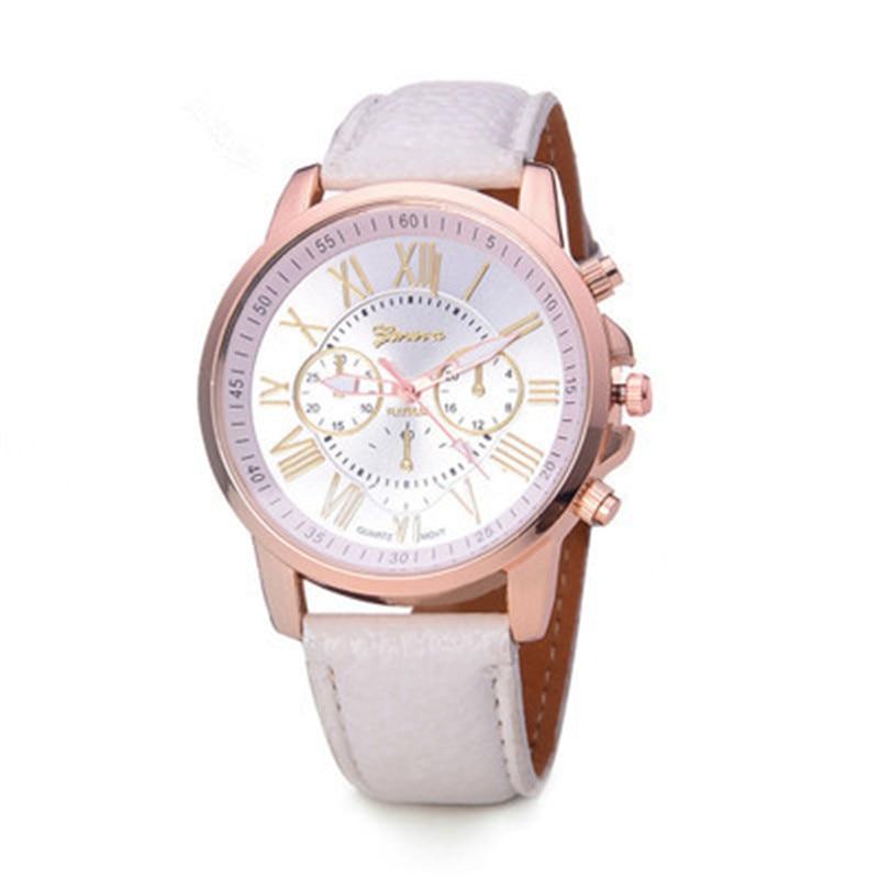 Luxury Brand Leather Quartz Watch Women Men Ladies Fashion Wrist Watch Wristwatches Clock relogio feminino masculino 8O73