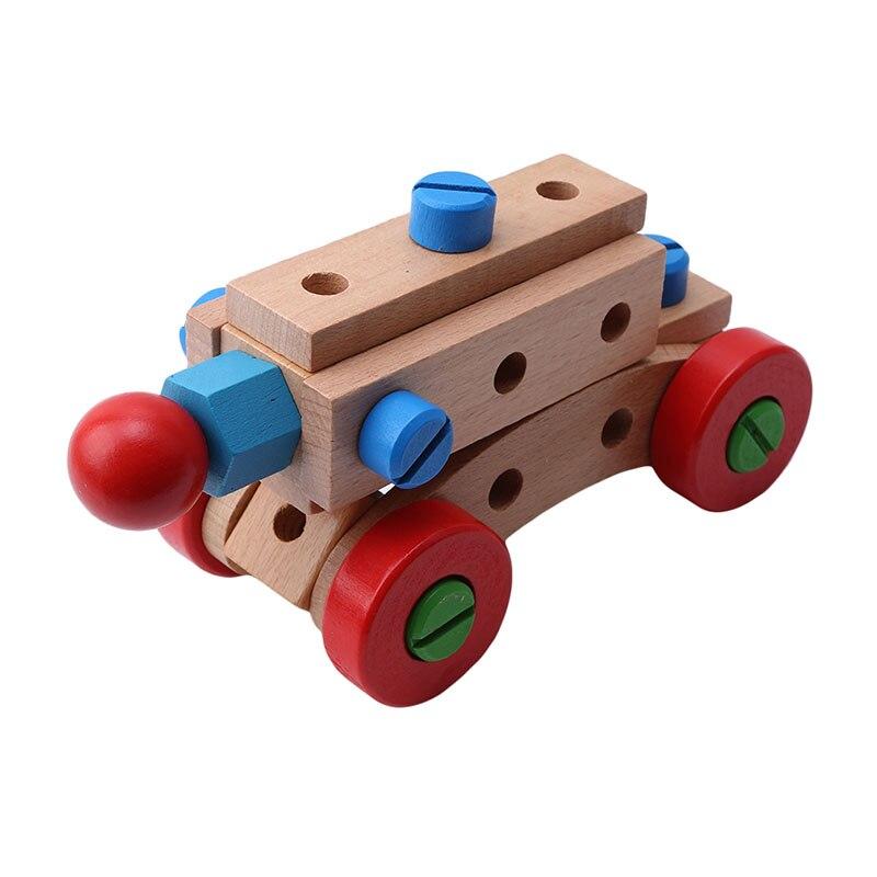 31 капсулы деревянные развивающие игрушки гайка и винт сборка строительные блоки
