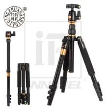Beike Qzsd Q555 Professionele Aluminium Statief Kit Monopod Balhoofd Q.R. Plaat Voor Dslr Camera Licht Compact Draagbare Stand