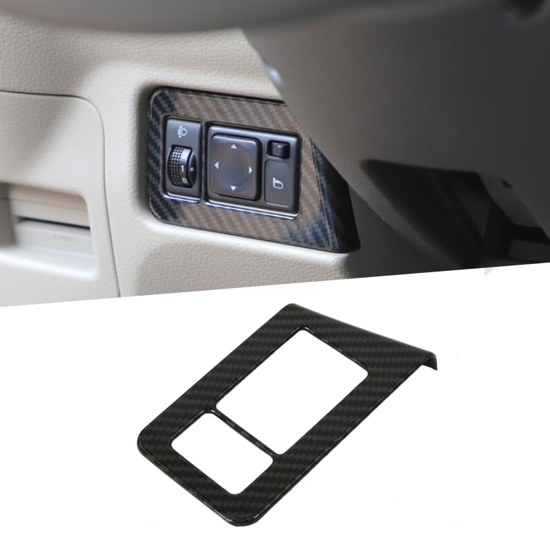 For Nissan NV200 Evalia 2010-2018 Chrome Front Fog Head Light Lamp Adjust Switch Button Control Cover Trim Garnish Molding Frame