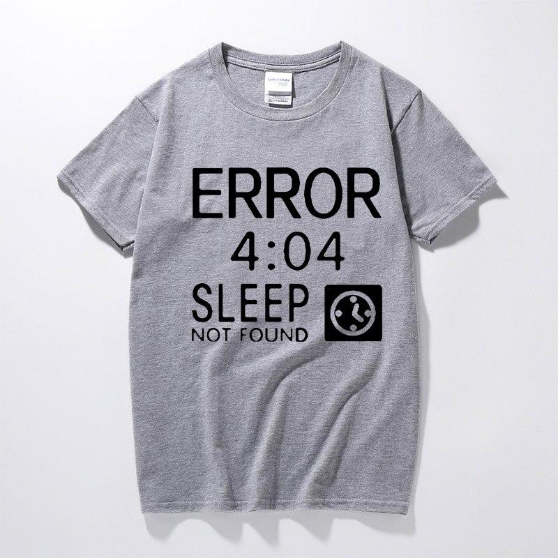 Camiseta programador RAEEK Creative Google 404 Not Found Error para hombres CODER Geek Camisetas casuales de moda Tee Geeks regalos de gran tamaño