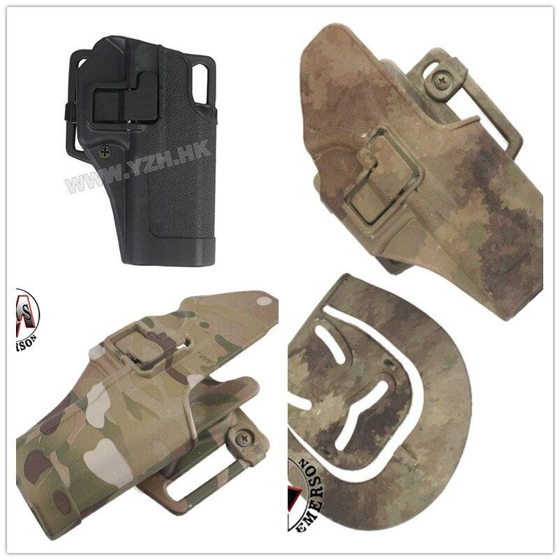 Heißer Verkauf Im Freien Taktische pistolenhalfter EMERSON Military Airsoft Jagd Gürtelholster Rechts Hand Pistol Holster Fall Für Glock 17