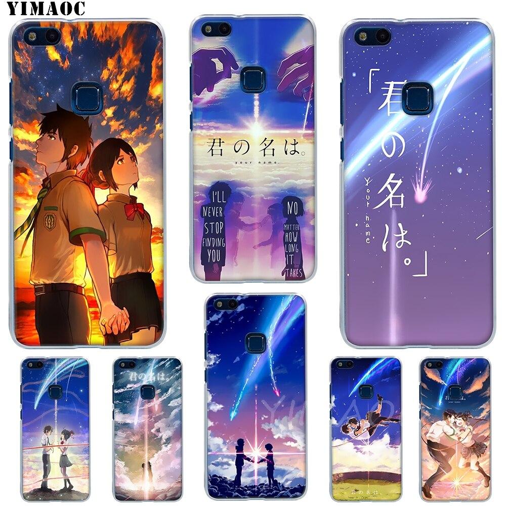 YIMAOC kimi no nawa animación anime suave caso de Huawei P8 P9 P10 P20 P30 Lite Pro P smart 2019 cubierta de TPU