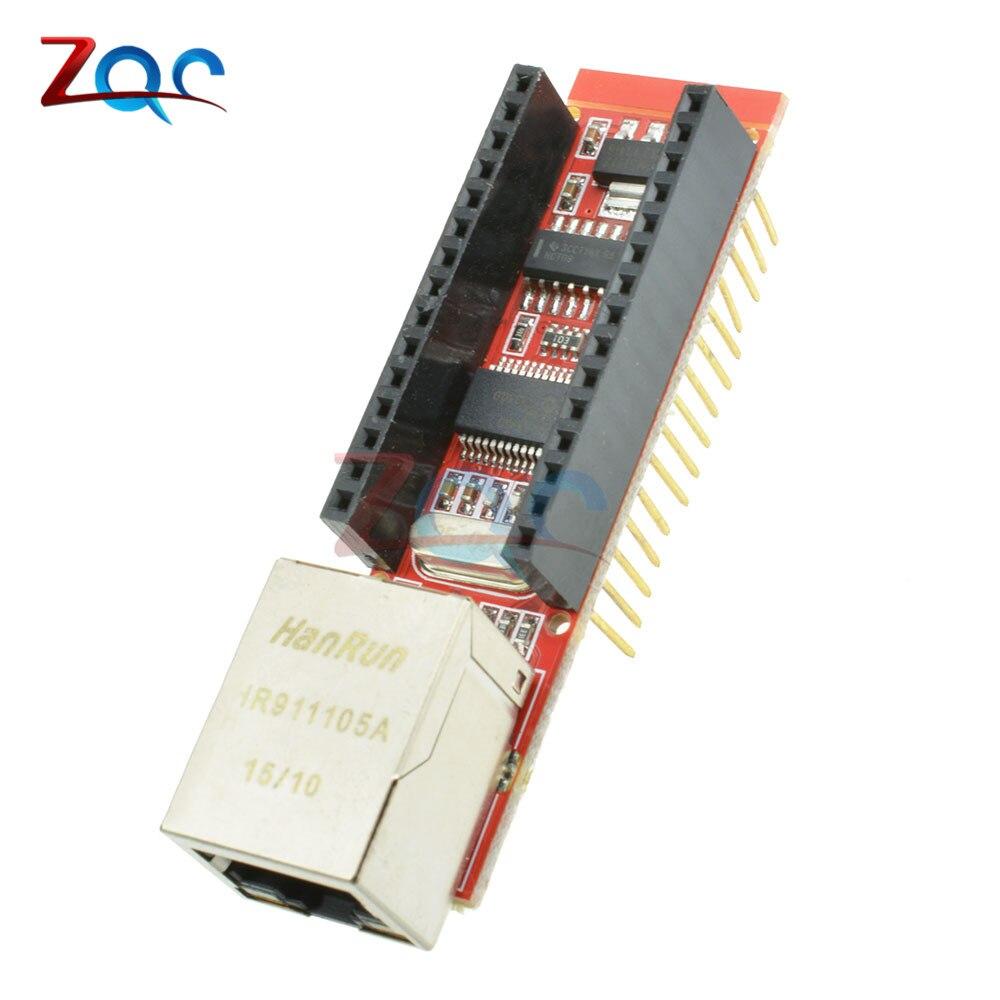 ENC28J60 Ethernet Shield V1.0 para Arduino Nano V3 Ethernet Shield RJ45 HR911105A Servidor Web módulo con pines